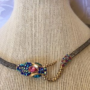 Betsey Johnson Snake Flexible Collar Necklace